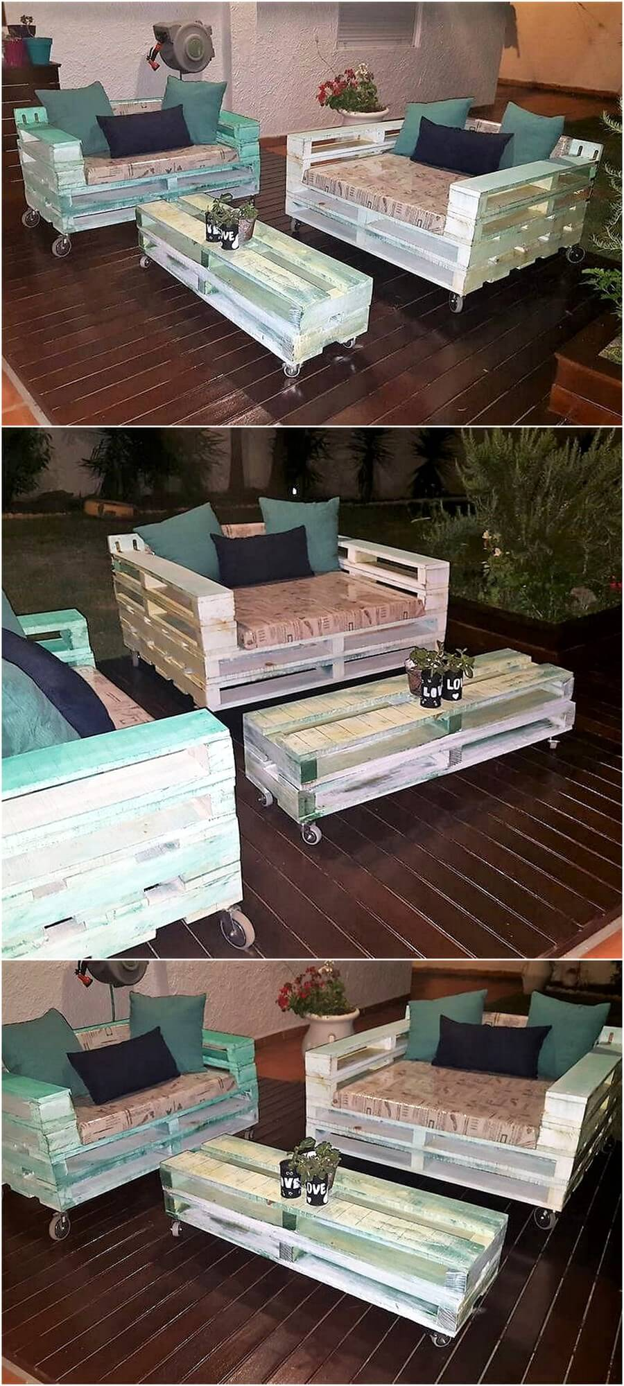 Wooden Pallet Furniture Set