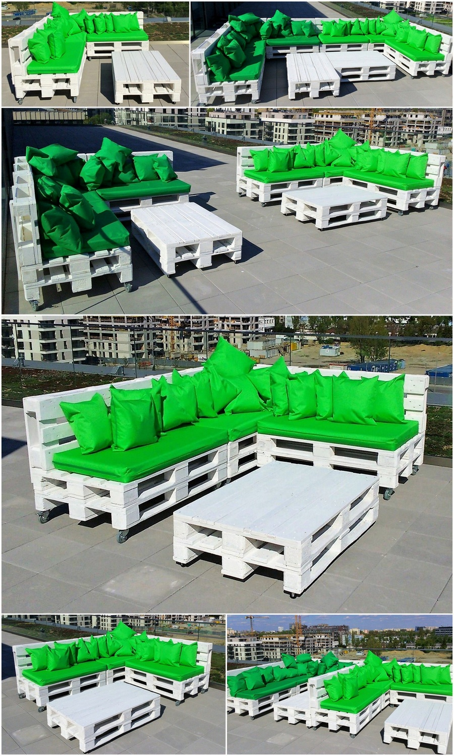 Outdoor Furniture Idea with Recycled Pallets