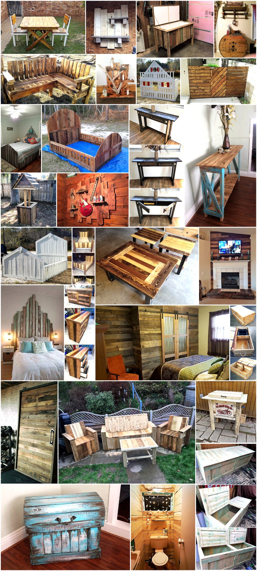 Some Creative Woodworking Ideas With Pallets Wood Pallet Furniture
