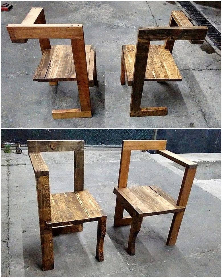 artistic pallet chairs
