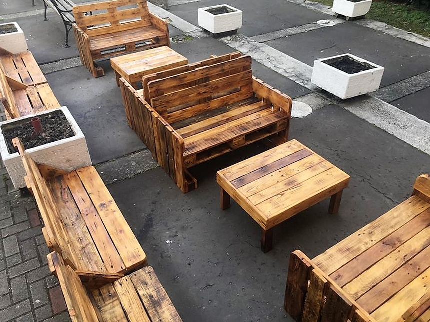 outdoor pallet furniture plan