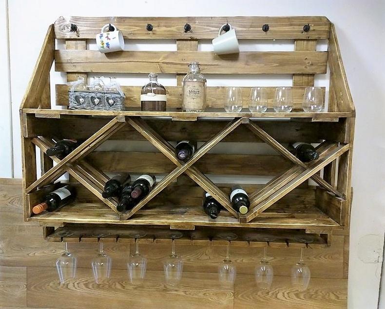 pallet bottles rack