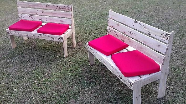 pallets garden benches