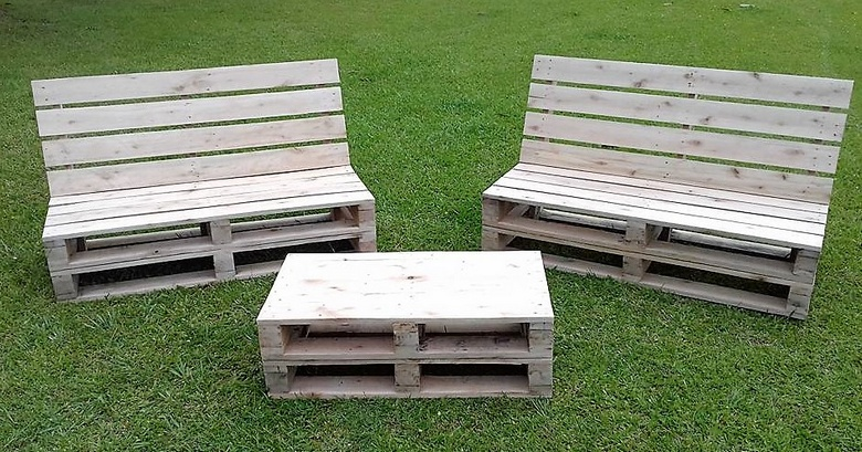 patio furniture with pallets - Garden Furniture Using Pallets