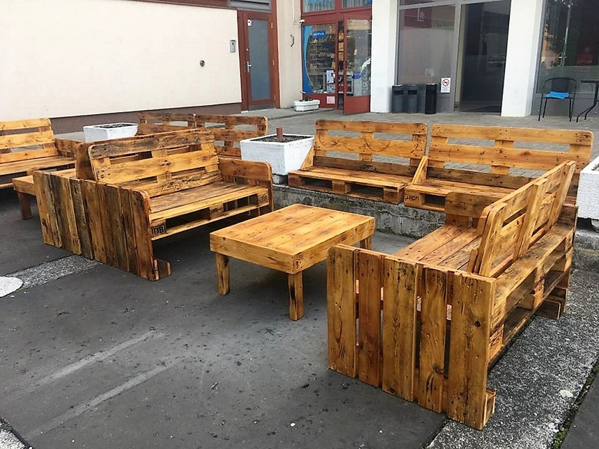 patio pallet furiture idea