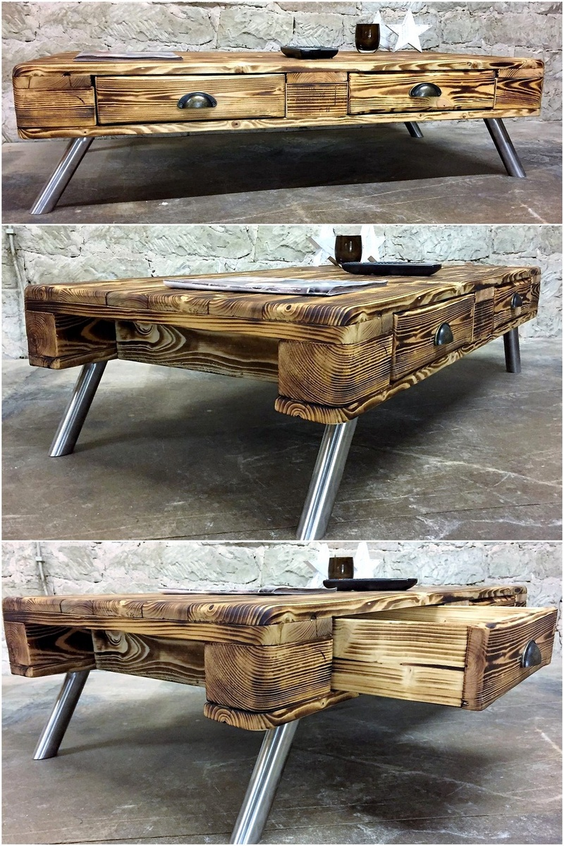 reclaimed and rustic pallet table