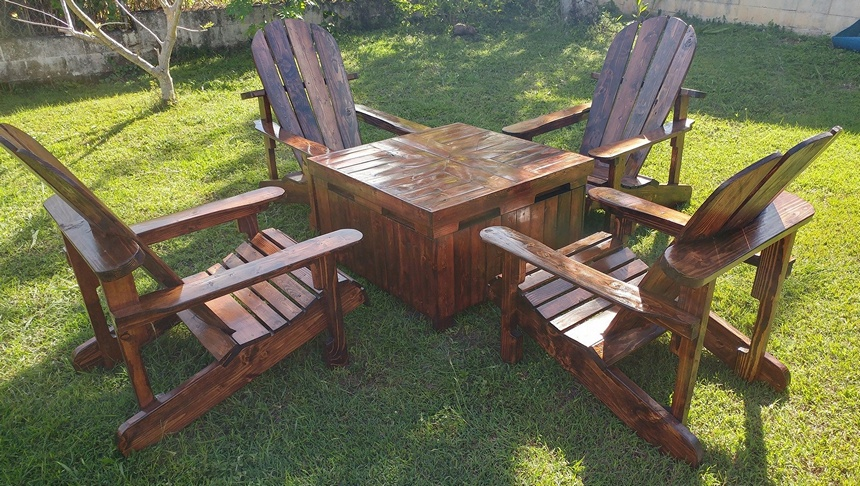 reclaimed pallet adirondack furniture