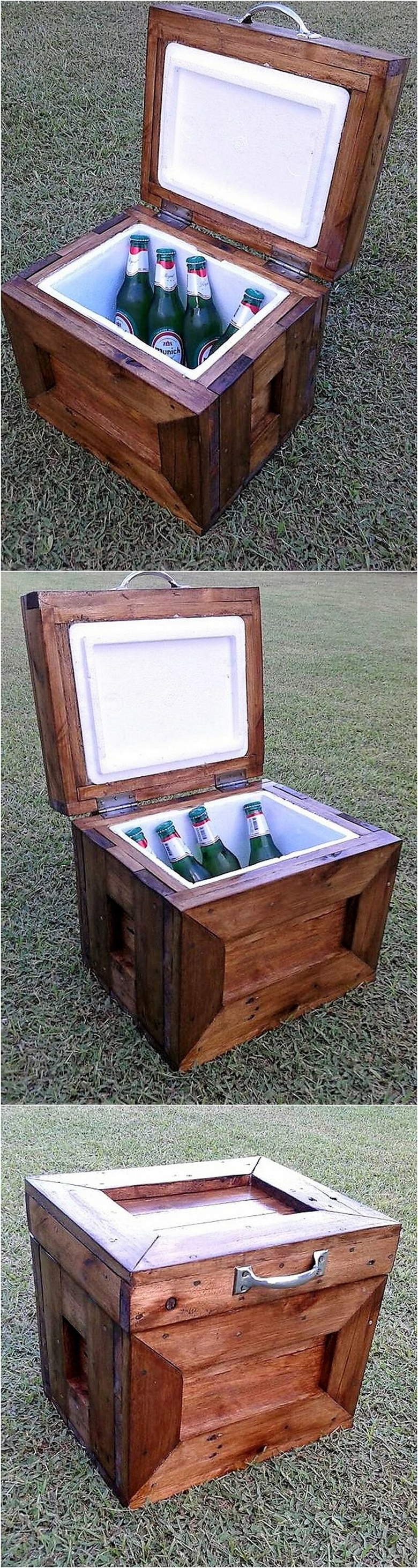 reclaimed pallets cooler idea