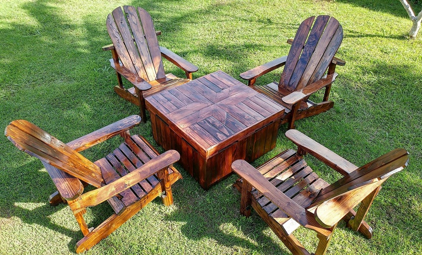recycled pallet adirondack furniture