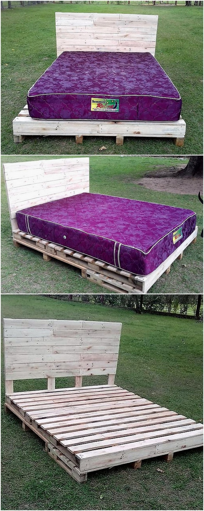 repurposed pallet bed