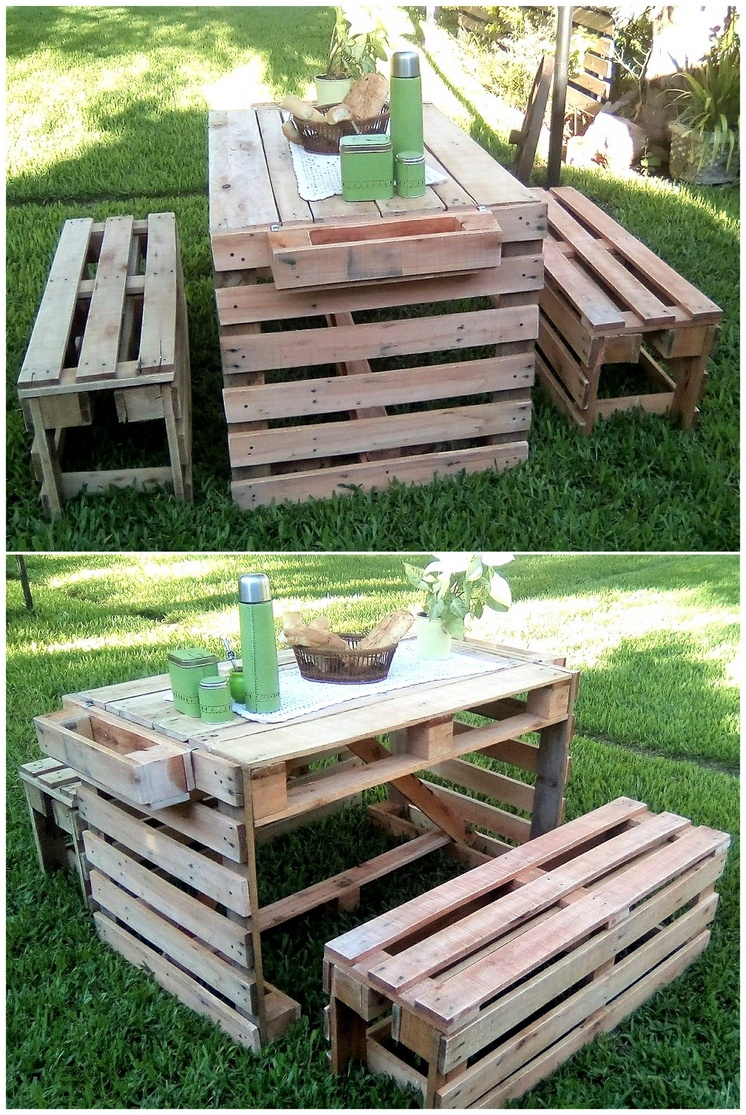 rustic pallet garden furniture