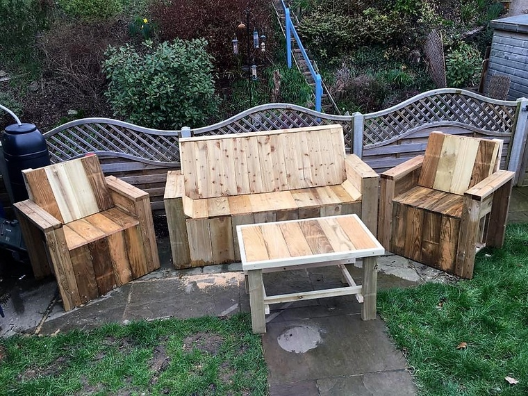 rustic pallet patio furniture