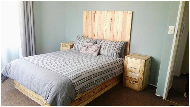 wood pallet bed plan