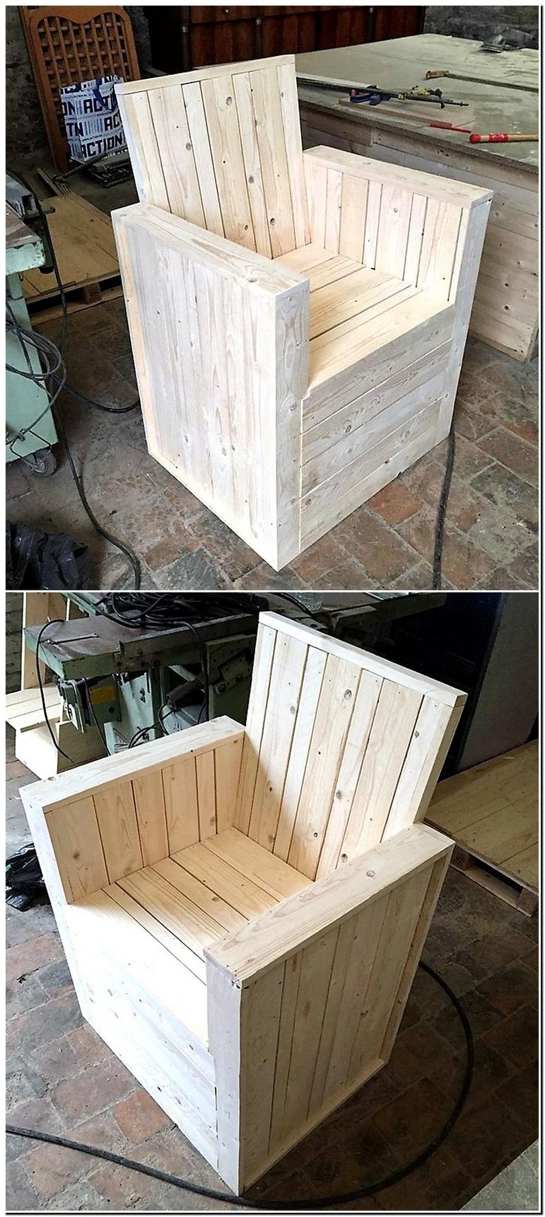 wood pallet chair plan