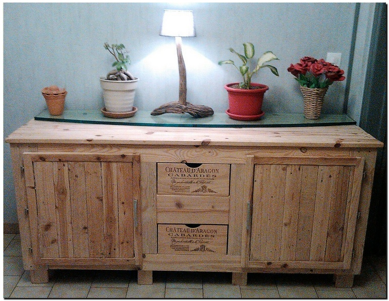 wood pallet entryway table