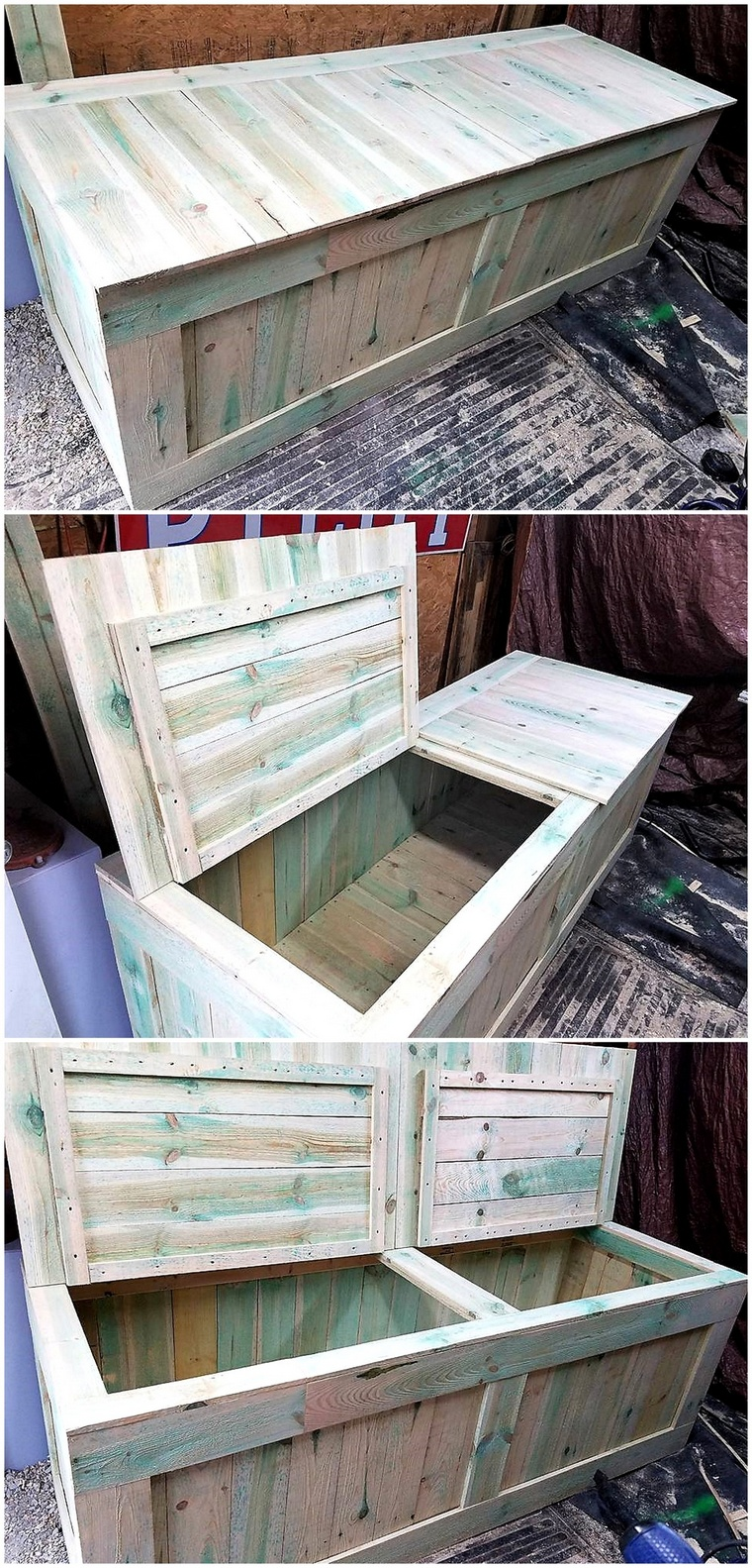 wood pallet huge box for storage