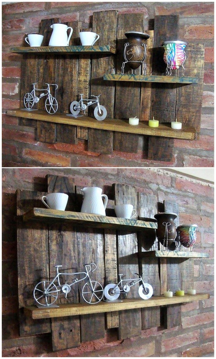 wood pallet rustic shelf
