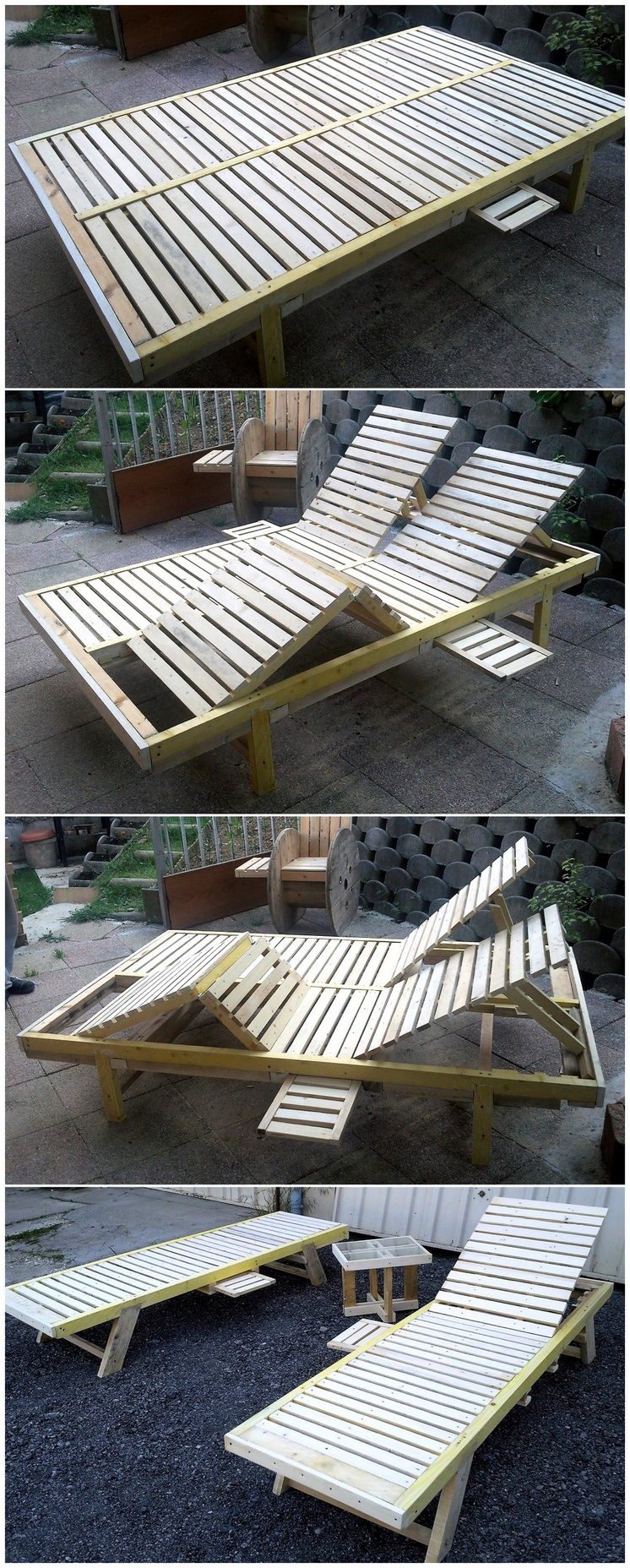 wood pallet sun lounger plan