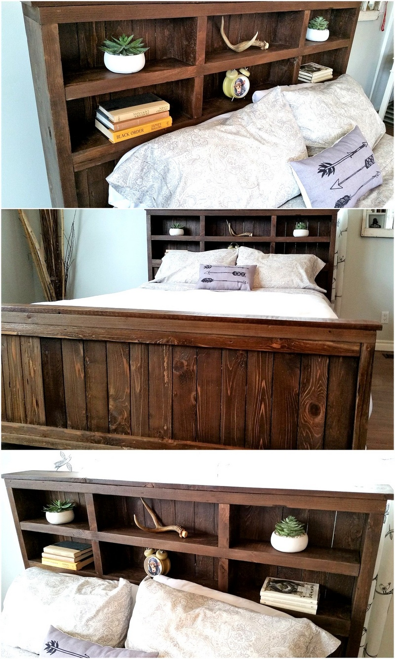 wooden pallet bed plan