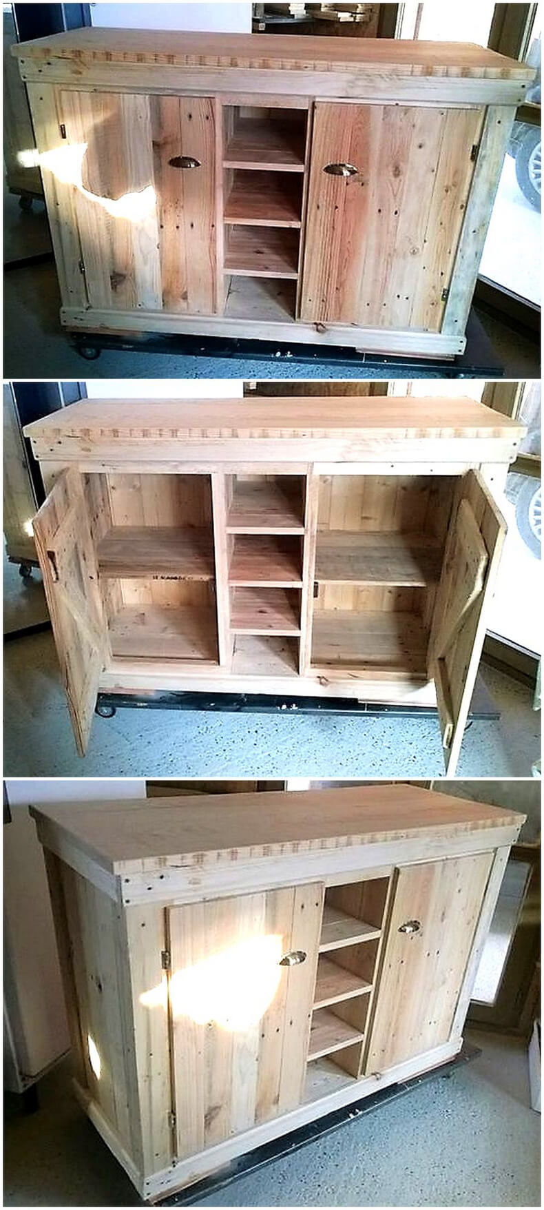 Buffet in pallets