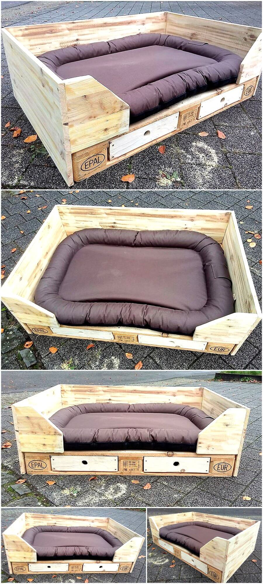 Cute Dog Bed Out of Recycled Pallets