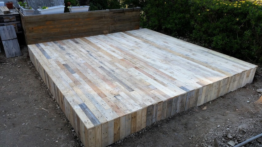 diy pallet gazebo deck