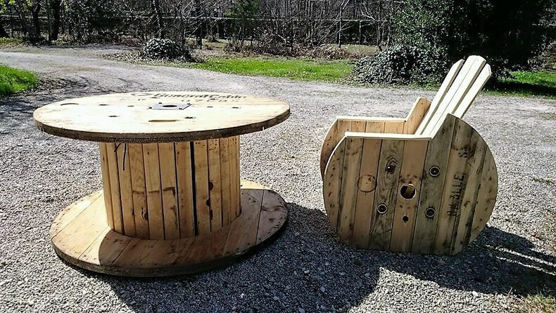 pallet cable reel furniture plan