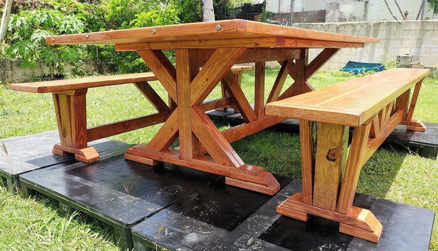 pallet dining set idea