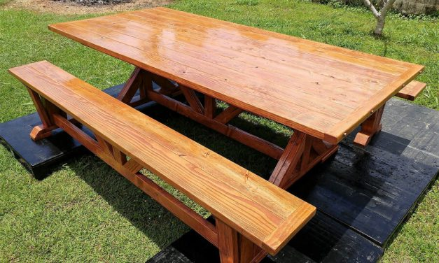 Repurposed Wood Pallets Made Dining Set