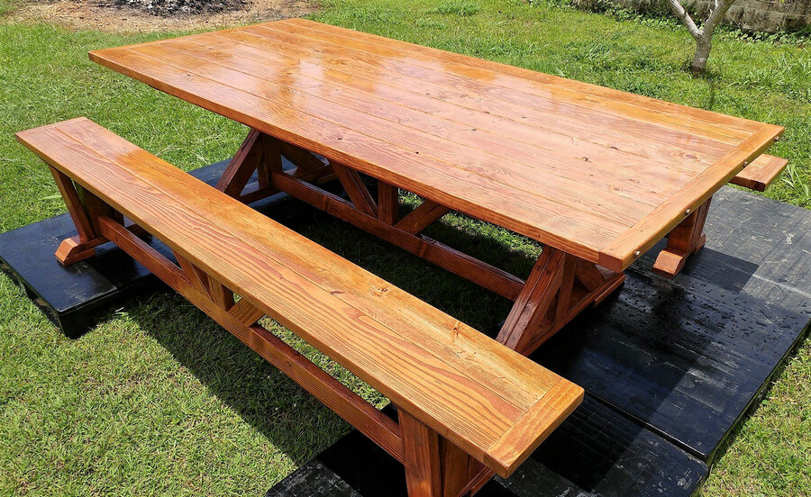 pallet dining set plan