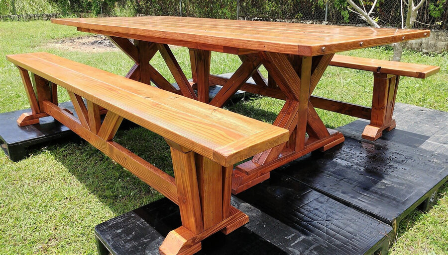 pallet dining set project