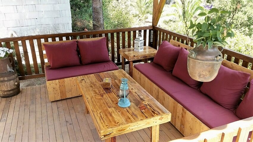 pallet gazebo deck furniture 2