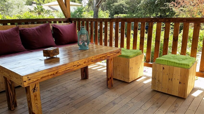 pallet gazebo deck furniture