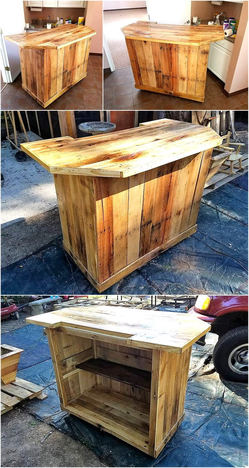 pallet kitchen or bar table