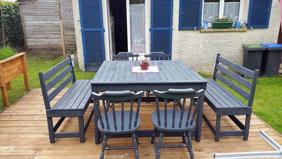 pallet outdoor deck furiture