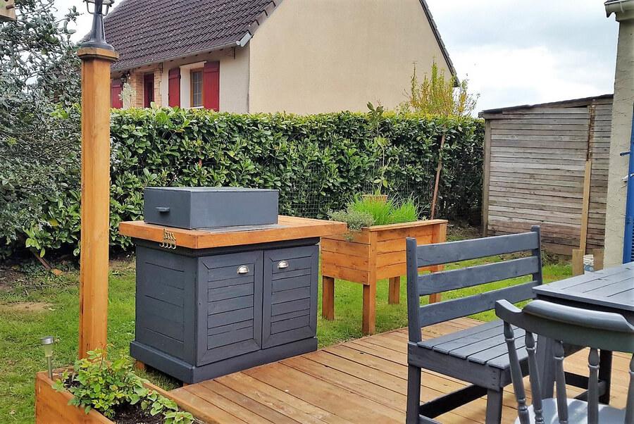 pallet patio garden deck