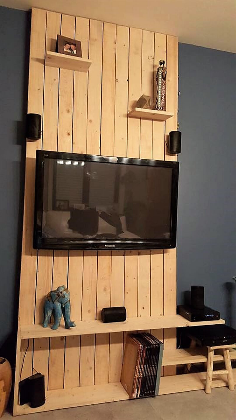 pallet wall cladding for tv