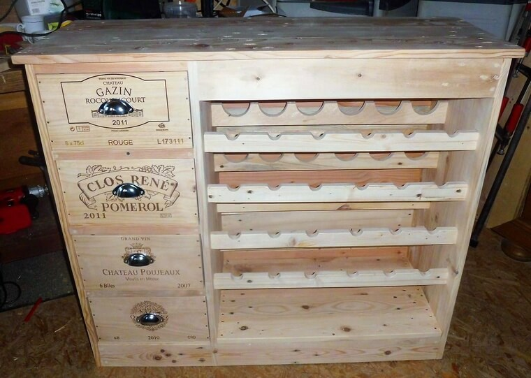 pallet wood bottle storage table 5