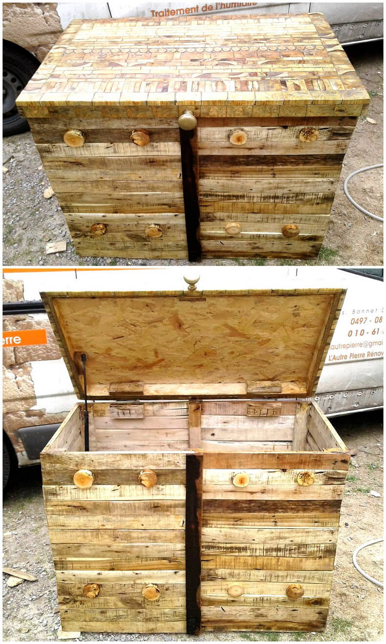 pallet wooden chest plan