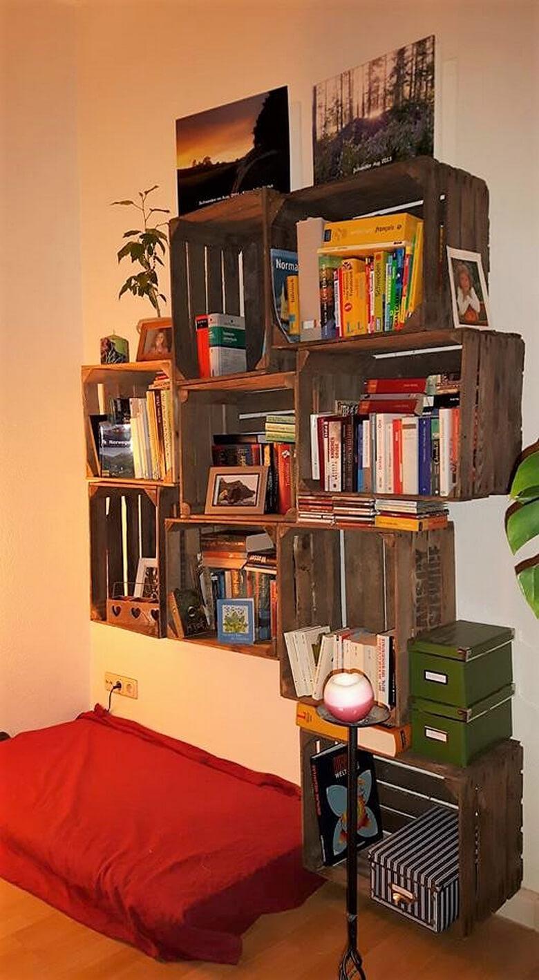 pallets fruit crates shelving cabinets