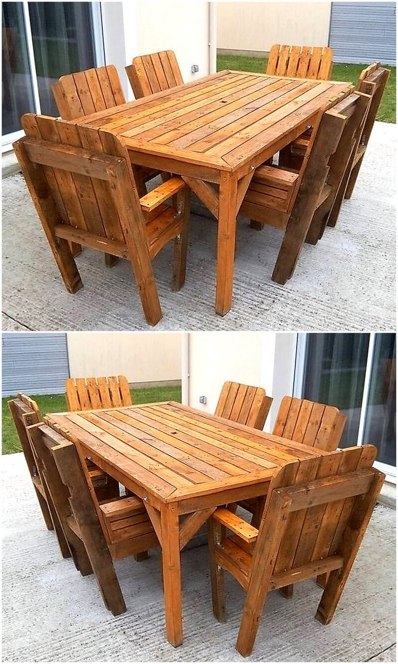 Simple and easy pallets recycling ideas wood pallet furniture pallets folding desk cum shelf geotapseo Choice Image