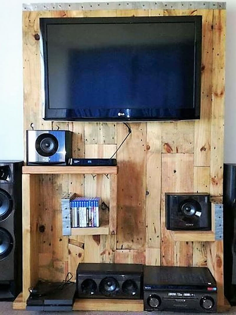 pallets tv stand plan