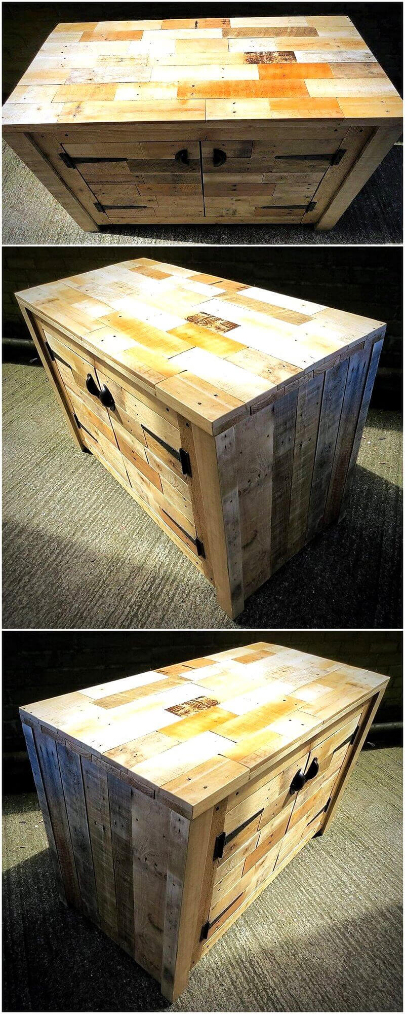 pallets wood side table plan 14