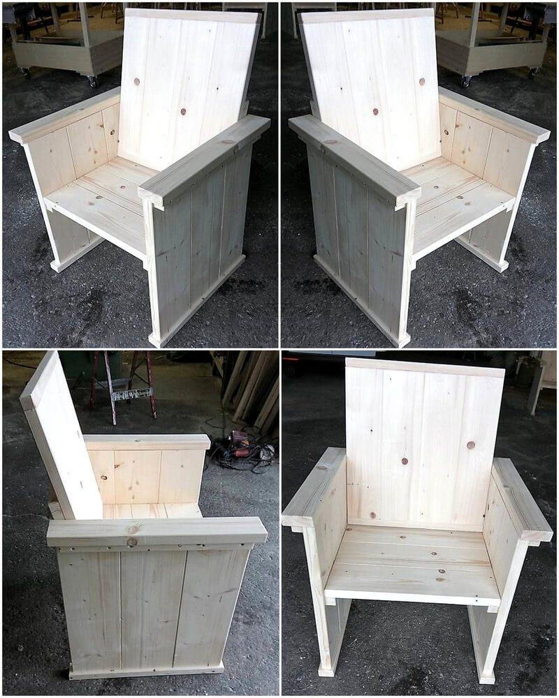 recycled pallet chair plan