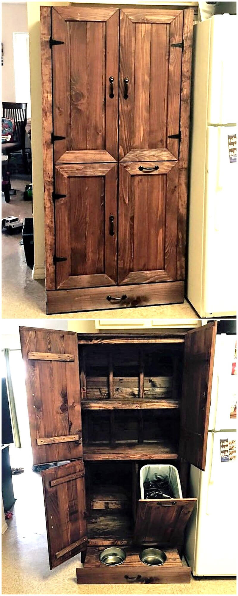 recycled pallet closet idea