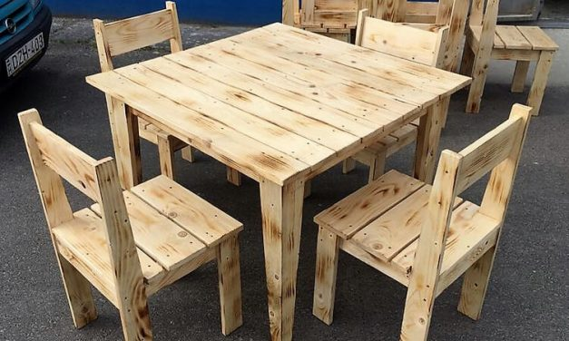 simple furniture set made with pallets wood by wood pallet