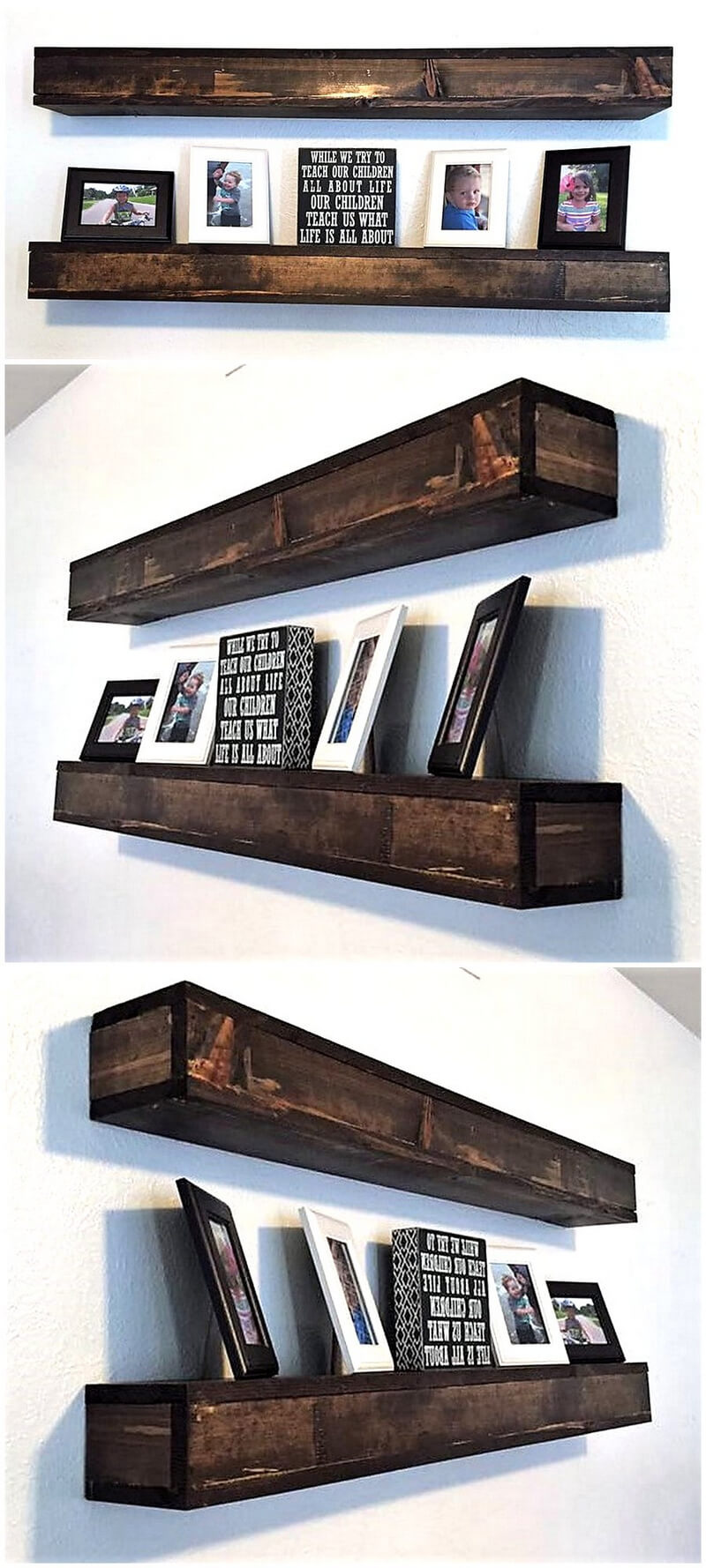 recycled pallet shelf idea