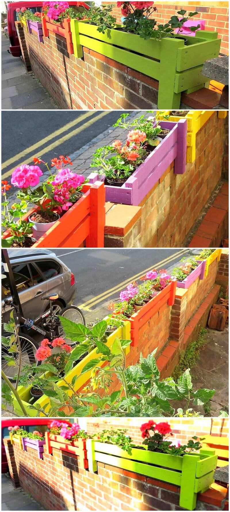 recycled pallet wall planters 18