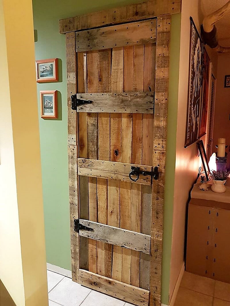 rustic look pallet door