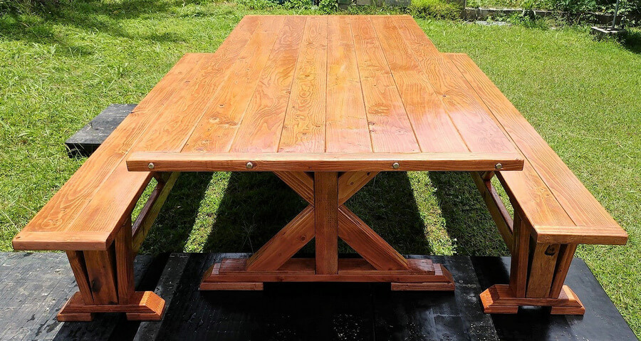 upcycled pallets dining set